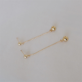 Long Ball Drop Earring