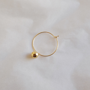 20mm Wire Ring Ball Earring