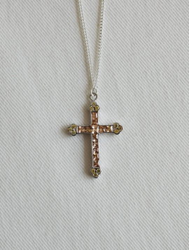 Square Cubic Cross Necklace