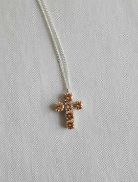 Six Cross Silver Necklace