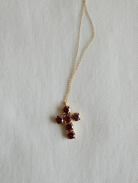 Six Cross Gold Necklace
