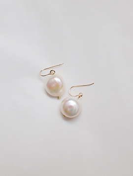 Natural Pearl Simple Earring