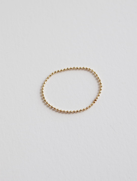 14k Gold / Rosegold Ball Chain Ring