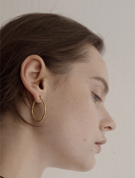 Twist Simple Earring (Oval)