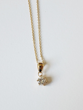 14k gold Setting Necklace