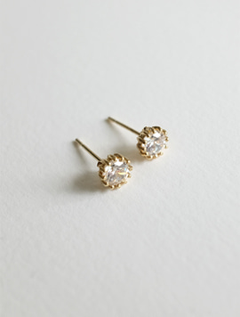 14k gold Simple Cubic Earring