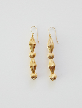 Sculpture Pleats Ball Earring
