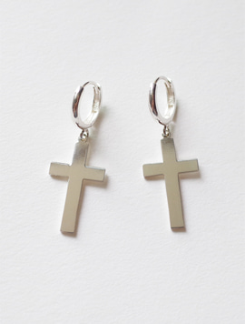 Big Size Cross Ring Earring