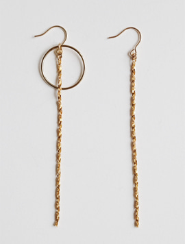 Twist Long Simple Earring