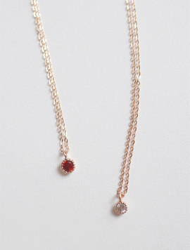 14k Rosegold Birthstone Mini Necklace