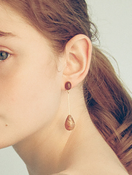 Brown Piece Earring