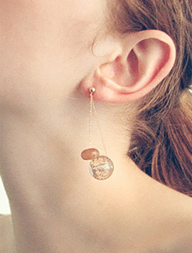Clear Pebble Earring