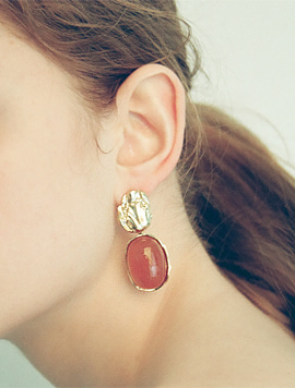 Pumpkin Flower Unbalance Earring