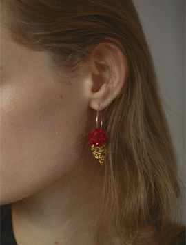 Mongle Berry Ring Earring