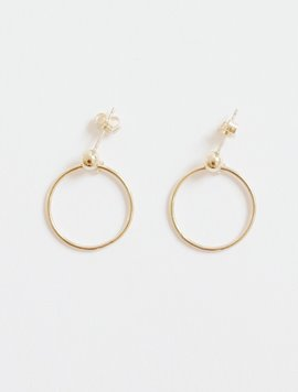 Ball Ring Post Earring - S size
