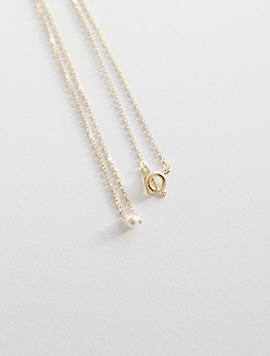 14k Pearl Simple Necklace