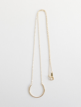 14k Simple Line Necklace