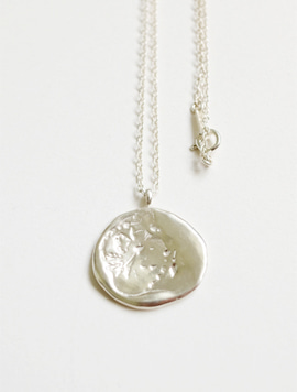 Oat Stamp Necklace (Silver)