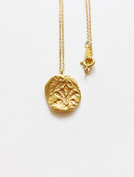 Oat Circle Necklace (Gold)