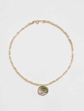 Apricot Seeds Metal Necklace